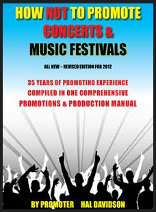 Hown not to promote concerts & festivals book cover