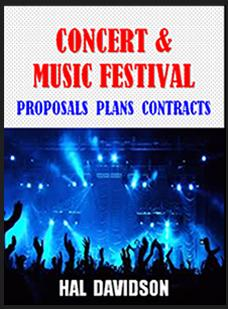 concert promotions proposal plans book cover