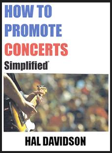 How to promote concerts siplified book