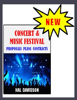 concert & music festival proposals plans contracts book cover
