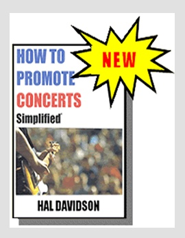 how to promote concerts book cover